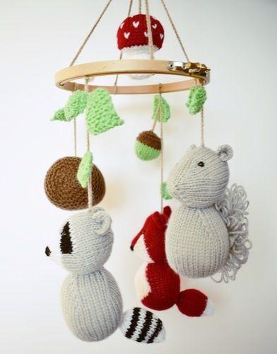 Makerist - Woodland Mobile - Knitting Showcase - 3
