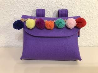 Lenkertäschchen fürs Laufrad in Lieblingsfarbe Lila