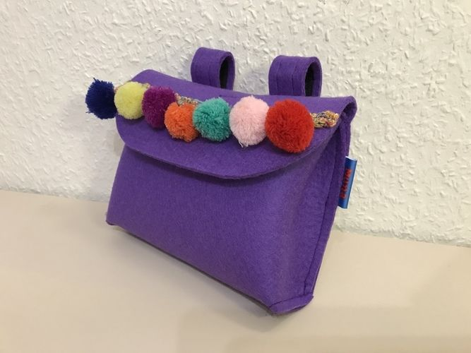 Makerist - Lenkertäschchen fürs Laufrad in Lieblingsfarbe Lila - Nähprojekte - 2