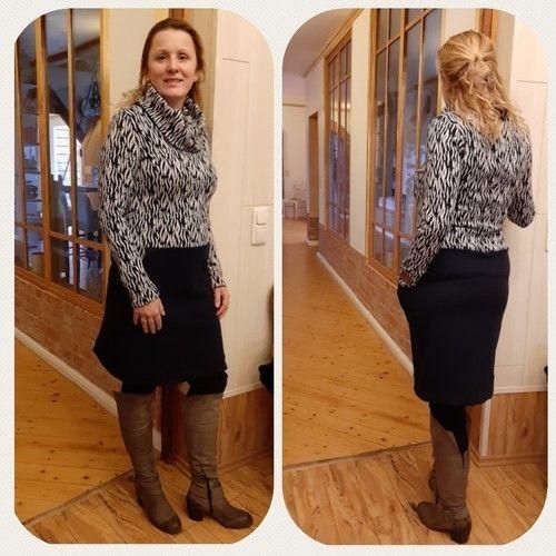 Makerist - Kleid Frau Fannie mit Loop aus Jaquard von Traumbeere  - Nähprojekte - 2