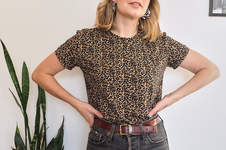 Makerist - The Jeanne Ready to Sew - Leopard Print Tee - 1