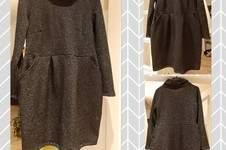 Makerist - FESTLICHES Kleid CHLOE v pattydoo  mit Rollkragen in Sweat.. - 1