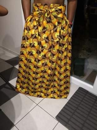 Makerist - Jupe midi / maxi skirt en wax - 1