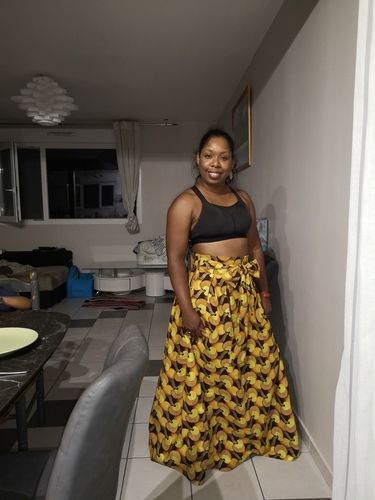 Makerist - Jupe midi / maxi skirt en wax - Créations de couture - 2