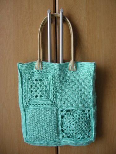 Makerist - Tasche aus verschiedenen Grannies - Häkelprojekte - 1