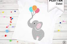 Makerist - Niedliche Elefanten als Plotterdatei (mehrfarbig) - 1