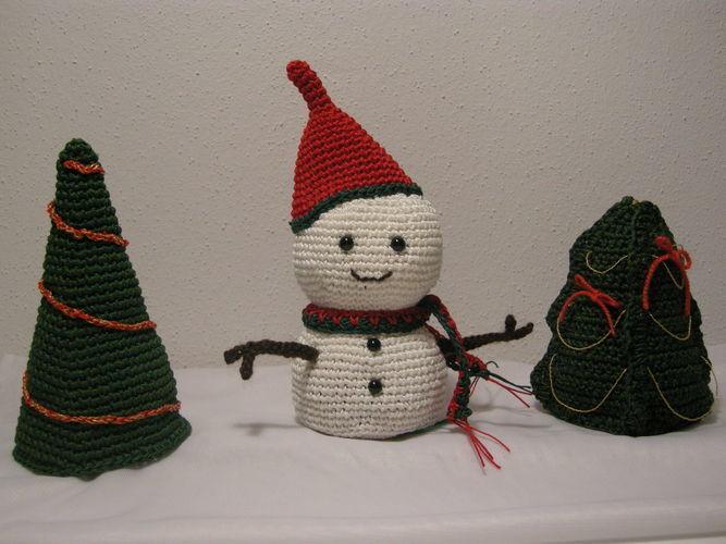 Makerist - Schneemann + Weihnachtsbäume - Häkelprojekte - 1
