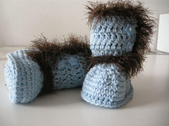 Makerist - Babystiefelchen für einen strengen Winter - Häkelprojekte - 3