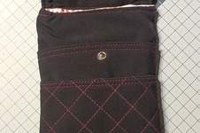 Makerist - Handytasche mit vielen Steckfächer aus einer Softshelljacke erstellt. - 1