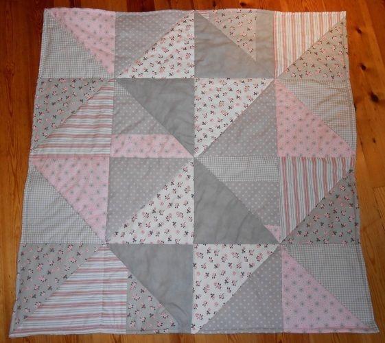 Makerist - Patchworkdecke aus Baumwolle und Fleece für das Baby meiner Nichte - Nähprojekte - 1