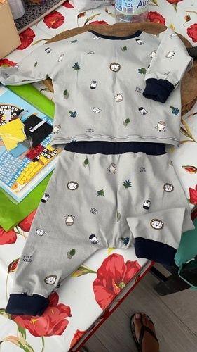 Makerist - Ensemble Córdoba (patron Ikatee) en jersey pour un bébé taille 6mois - Créations de couture - 1