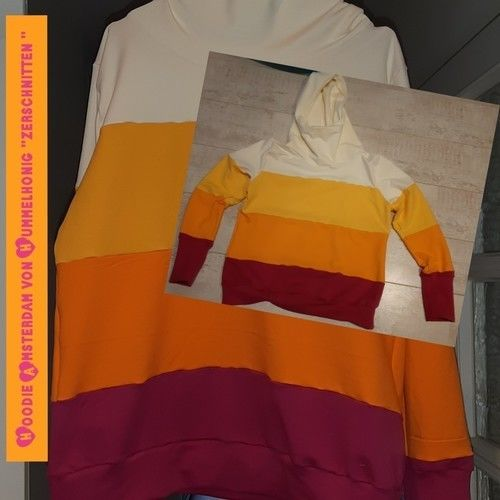 """Makerist - Hoodie Amsterdam von Hummelhonig """" zerschnitten """" - Nähprojekte - 1"""