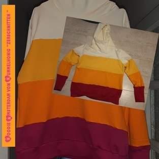 """Makerist - Hoodie Amsterdam von Hummelhonig """" zerschnitten """" - 1"""