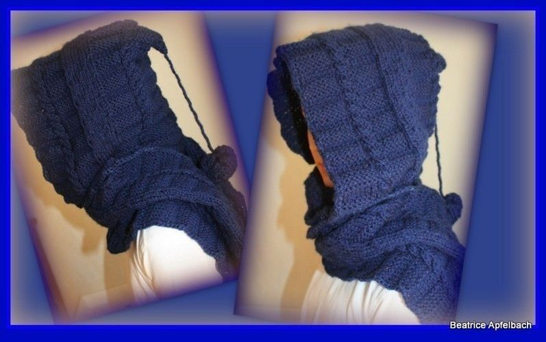 "Makerist - Scoodie ""Nightblue"" - Strickprojekte - 1"
