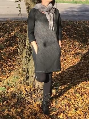 Kleid Mila aus Herringbone Gradient von Apfelschick