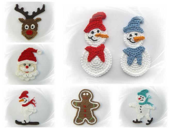 Makerist - Häkelapplikationen für Winter/Weihnachten - Häkelprojekte - 1