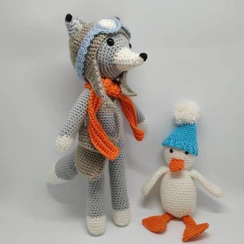 Makerist - Nathanaël Fox l'explorateur et son ami Raymond l'oison - Créations de crochet - 1