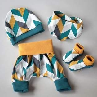 Makerist - Newborn Set gemustert - 1