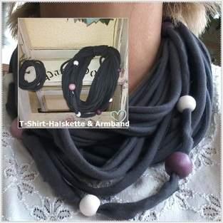 Makerist - Halskette(loop)  aus T-Shirt - 1