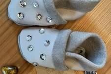 Makerist - Babylederschuhe mit Glitzer - 1