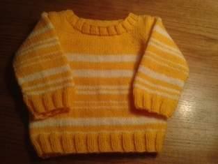 Makerist - Gelb-weiss gestreifter Kinderpullover - 1