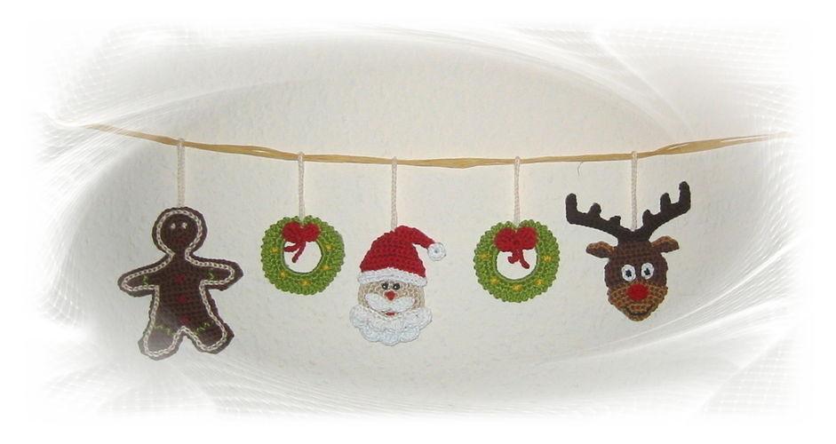 Makerist - Weihnachts-Girlande - Häkelprojekte - 1