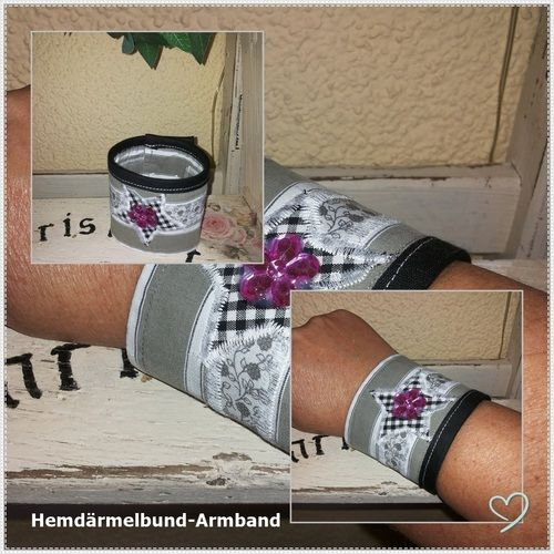 Makerist - Manschetten-Armband ;)  - Nähprojekte - 1