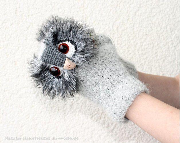 "Makerist - Handschuhe ""Uhu"" - Häkelprojekte - 3"