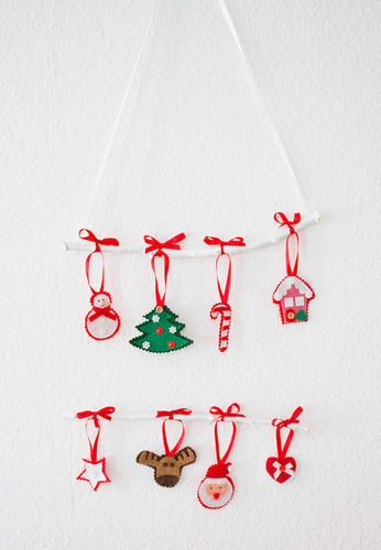 Makerist - Weihnachtliches Mobile mit Filzfiguren - Nähprojekte - 1