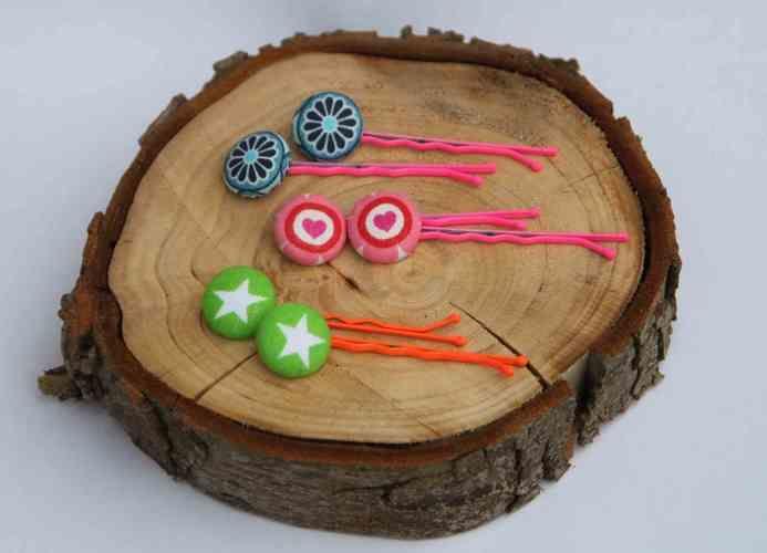 Makerist - Haarnadeln aus beziehbaren Knöpfen - DIY-Projekte - 1