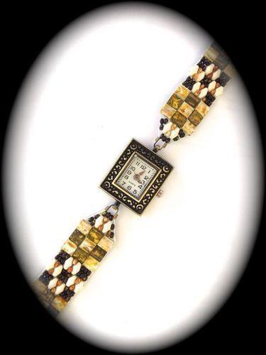 Makerist - Armbanduhr mit Perlenarmband - DIY-Projekte - 1