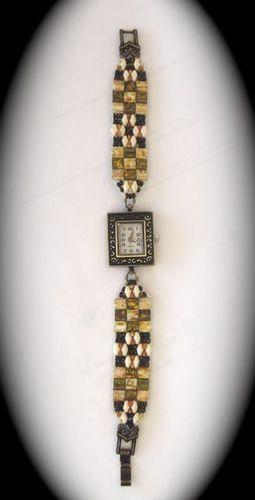 Makerist - Armbanduhr mit Perlenarmband - DIY-Projekte - 2