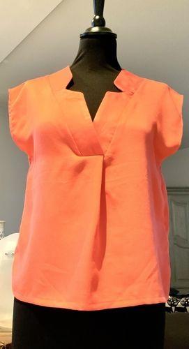 Makerist - Ma blouse WHISKY en viscose corail taille 34 - Créations de couture - 1