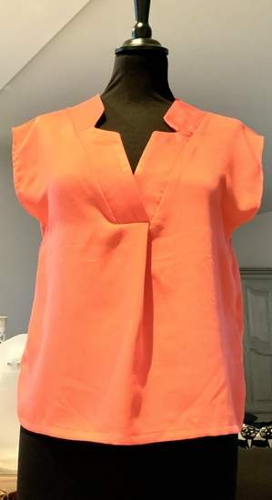 Makerist - Ma blouse WHISKY en viscose corail taille 34 - 1