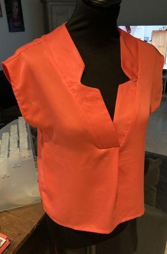 Makerist - Ma blouse WHISKY en viscose corail taille 34 - Créations de couture - 3
