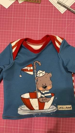 Pullover aus dem Babyset von fadenkäfer für meinen kleinen Neffen 😊