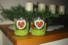 Makerist - weihnachtliches Teelichtglas mit Häkelapplikationen - 1