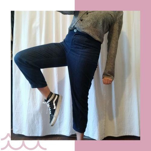 Makerist - Pantalon vaulion en jean - Créations de couture - 1