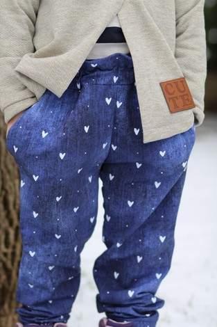 Schlupfhose loose fit aus Jeans-Sweat