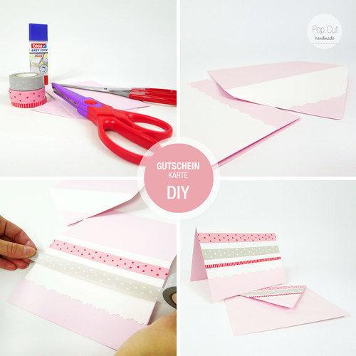 Makerist - DIY: Gutscheinkarte in 10 Minuten basteln - DIY-Projekte - 1