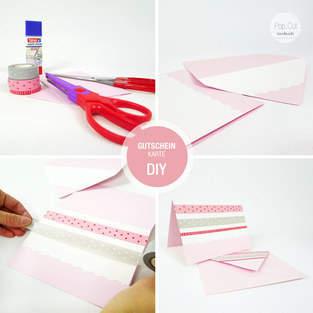 Makerist - DIY: Gutscheinkarte in 10 Minuten basteln - 1