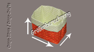 Makerist - Videoanleitung - Größenberechnung vom Utensilo/Stoffbehälter - 1
