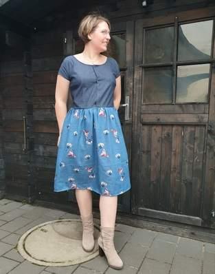 Kleid Alma bestickte Baumwolle