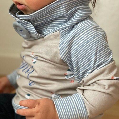 Makerist - Shirt Sarayu mit Wickelkragen - aus Jersey -  für Kinder - Nähprojekte - 3