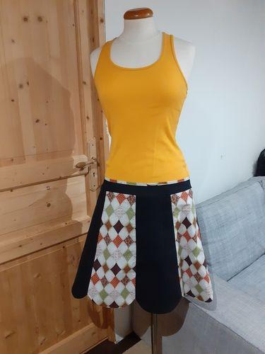 Makerist - Jupe lipsi récup'd'un vieux jean et coton! - Créations de couture - 1