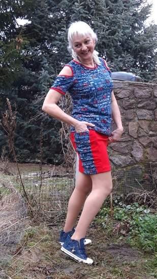 Rock Alicia aus Baumwolljersey