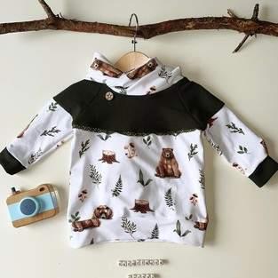 Makerist - Shirt Sarayu mit Zipfelkapuze oder Stehkragen aus Jersey für Kinder - 1