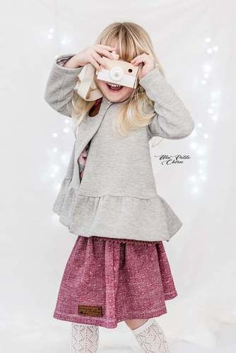 Makerist - Girly Cardigan aus Waffelstrickjersey  - Strickprojekte - 1