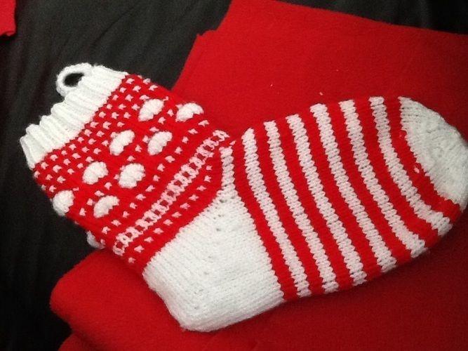 Makerist - Christmas-Stocking - Strickprojekte - 1