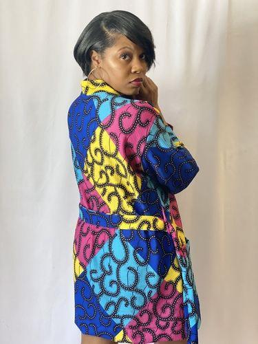 Makerist - Multicolored Ankara Print Lounge Robe - Sewing Showcase - 2